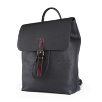 TERSE Leather Backpack Men Handmade Genuine Leather Bagpack In Black High Quality Luxury Engraving Service Factory