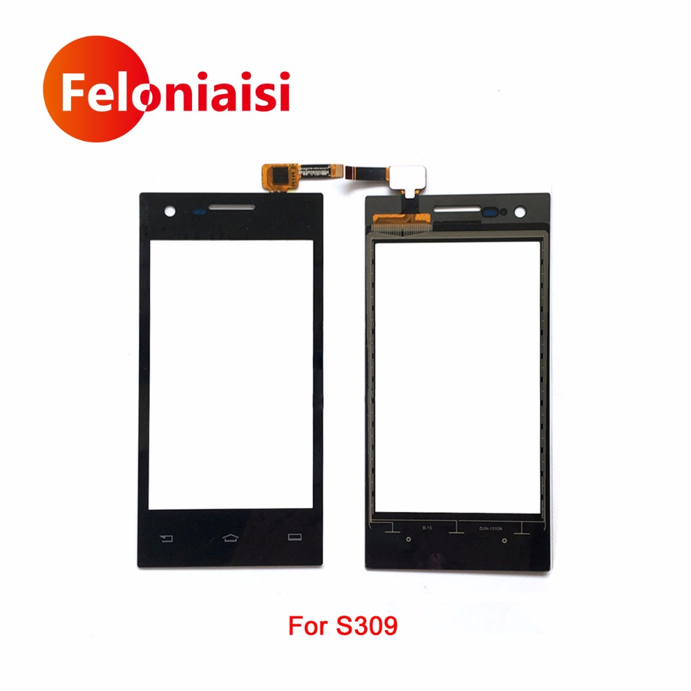 High Quality 4.0 For Philips S309 Touch Screen Digitizer Sensor Glass Lens Panel Black +Tracking Code