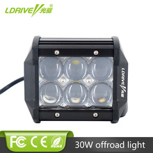 цена на LDRIVE 5D 30W LED Light Bar 4'' Spot Flood Car SUV 4WD 4x4 Truck Boat Tractor Wagon Trailer Auto ATV Offroad Headlight 12V 24V