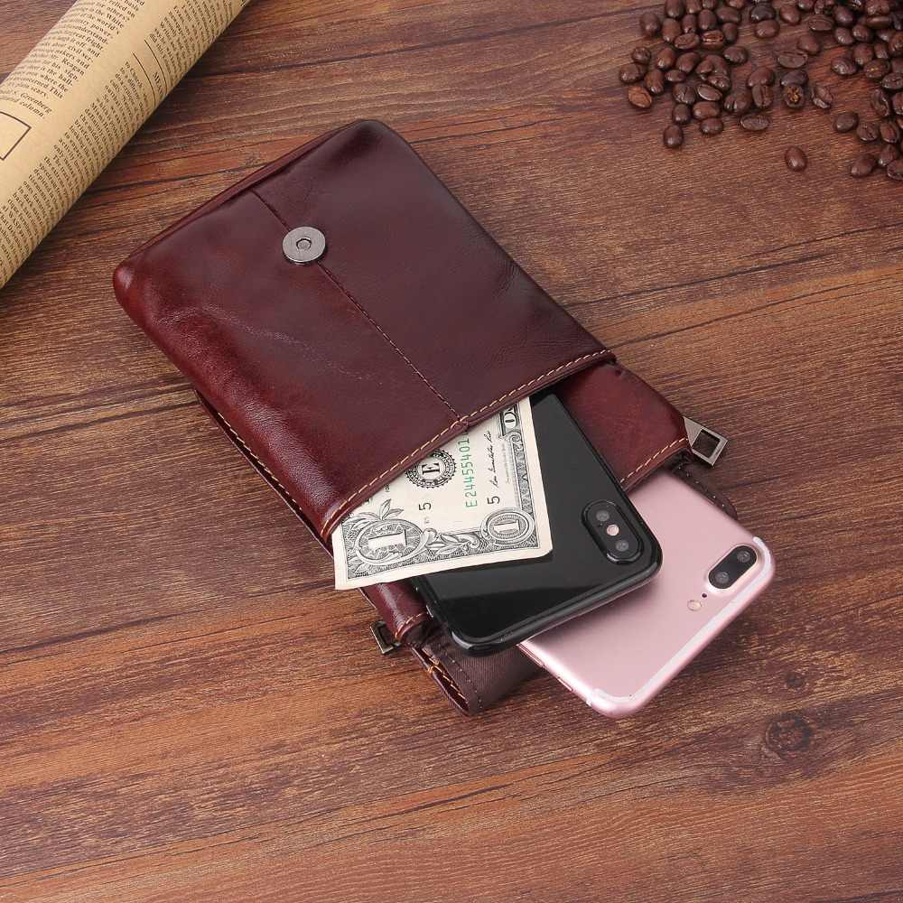 جلد طبيعي الطابقين العالمي الهاتف الحقيبة حالة ل Blackview BV9600 زائد BV9500 BV6800 BV5800 BV9000 P10000 برو غطاء