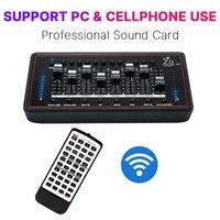 Sound Card For Bm 800 Studio Microphone Audio Interface External Sound Card For Live Broadcast Karaoke Microphone Placa de som