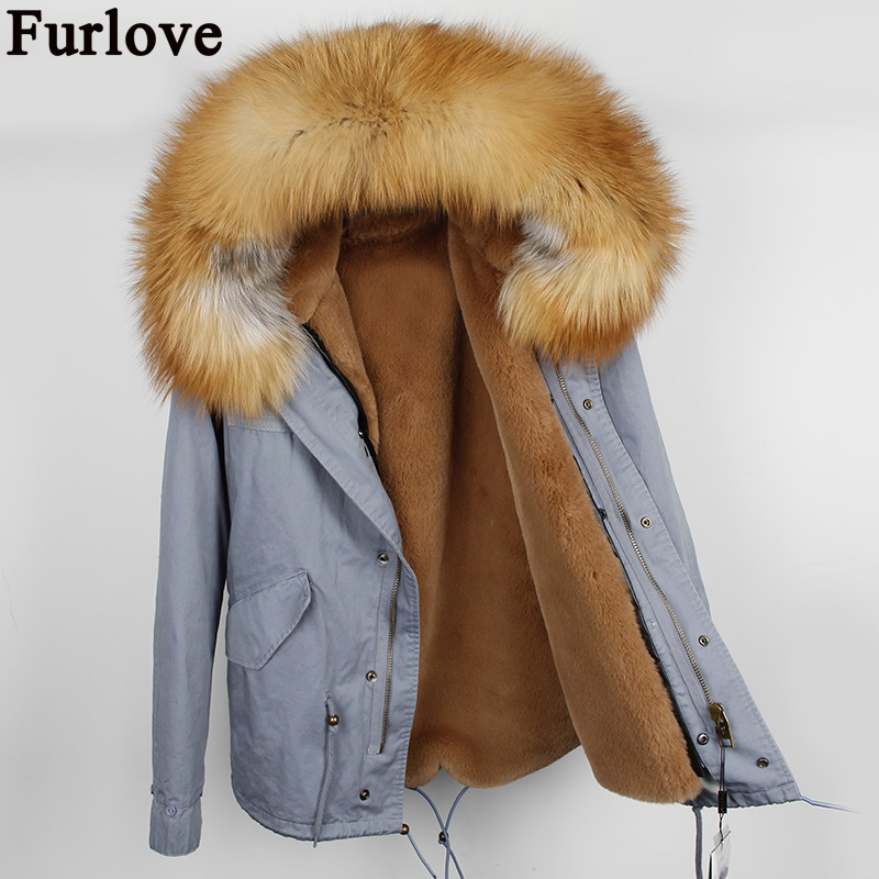 Winter Parka Women 2017 Fur Jackets Slim Thick Large Real Raccoon Fur Hooded Coats Faux Fur Lining Outwear Top Brand Quality