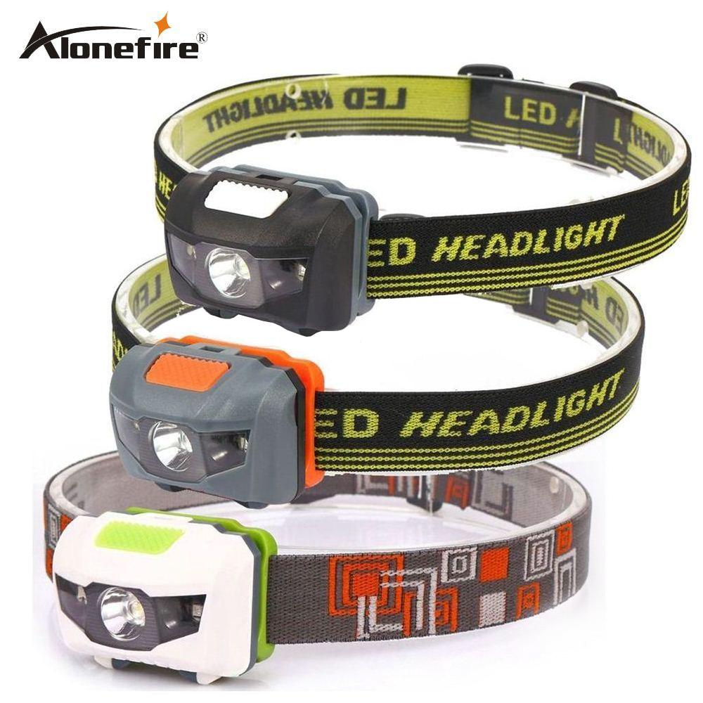 AloneFire HP30 Headlamp 4 Mode Lightweight Waterproof LED Head Light Camping Head Lamp Travel Mini Hike Headlight AAA Battery