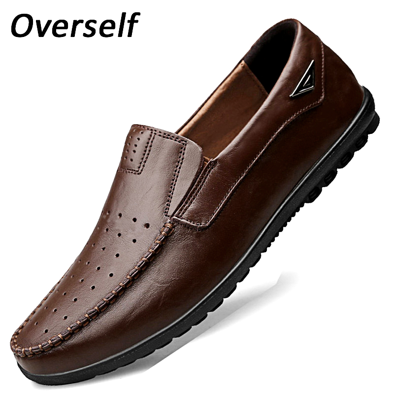 Mens Form Shoes 37 To 47 Big Plus Size High Quality Genuine Leather Men Casual Soft Moccasins Loafers Breathable Dress Shoes Formal Shoes Shoes