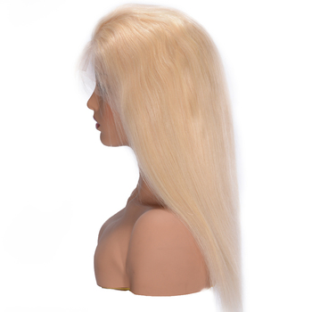 Silky Straight 613 Blonde Lace Front Human Hair Wigs 180% Density Brazilian Lace Front Remy Hair Wig Pre Plucked Favor Hair 8-24 2