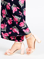 Pink sandals with ankle strap