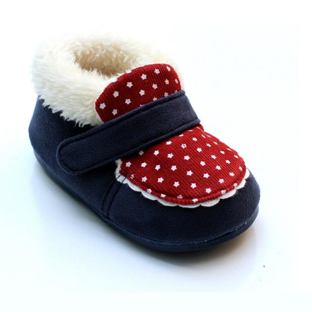 Zapatos de bebé de invierno zapatos de suela blanda niño los zapatos de niña infantiles antideslizantes princesa caliente zapatos del bebé del bebé
