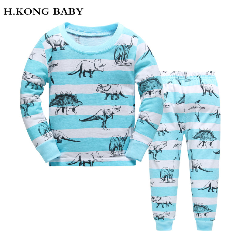 H.kong baby New Low price Kids Girls Pajamas Sets boys Pyjamas children paw cartoon Sleepwear Home Clothing 100% Cotton nightwea