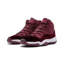 low priced 11a93 4d413 Männer 2019 Jordan Basketball Schuhe 11 Rot samt Frauen schwarz Cap Und  Kleid High-cut