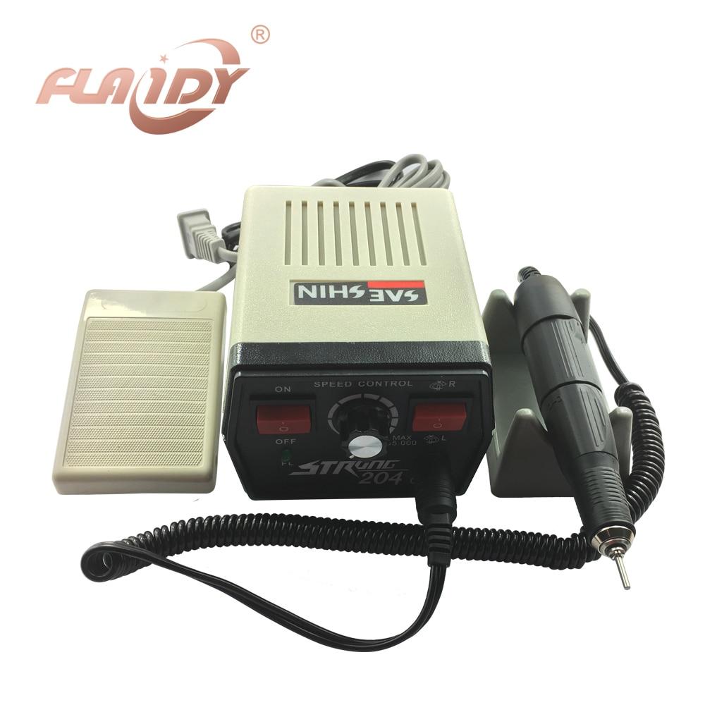 Dental Grinding machine 204 MicroMotor+102L Handle Jade Jewelry Carver 220V  цены