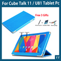 High quality PU case For Cube Talk11 / U81 10.6 inch Tablet PC,cube Talk 11 / u81case cover + free 3 gifts