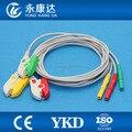 DIN оснастка защищенный ECG Trunk кабель с 3ld кабель для пациентов  IEC  зажим для Biosys/datecope/Nihon Kohden/Colin/CSI