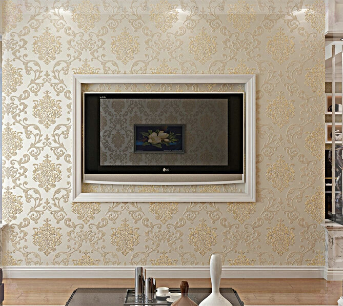 damascus nonwoven wallpaper 3d mural damask wall coverings