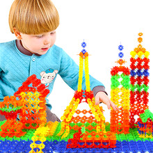 150pcs/lot Snowflake Montessori Materials Small Particles Building Blocks Toy DIY Montessori Educational Enlighten Child(China)