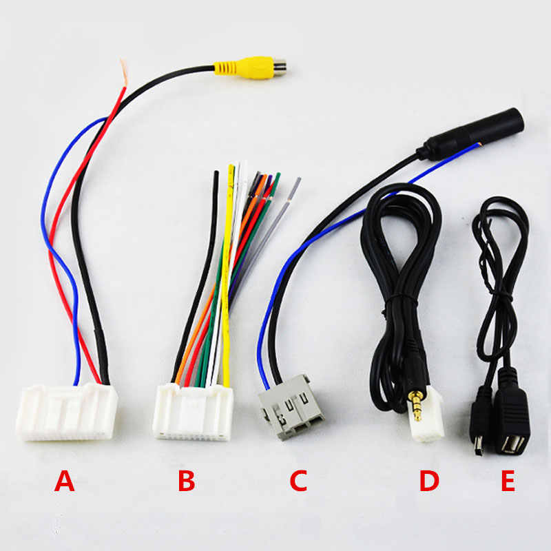 Car Stereo CD/Player Wiring Harness Adapter Plug (AUX USB Rear Camera...) For Nissan/Teana/X-Trail/Qashqai OEM Factory Radio CD