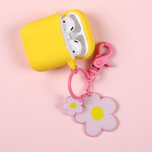 Flower Keychain Silicone Case For Airpod Dust Guard Cover Iphone Airpods Protective Cute Original Coque