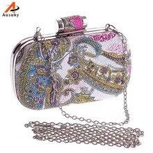 Neue Design Frauen Eleganten Europäischen Stil Luxus PU Malerei Abendtasche Damen Mini Kupplung Hochzeit Taschen Berühmte Marke 30