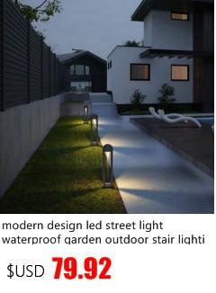 jardim ao ar livre conduziu a lâmpada arandela preto