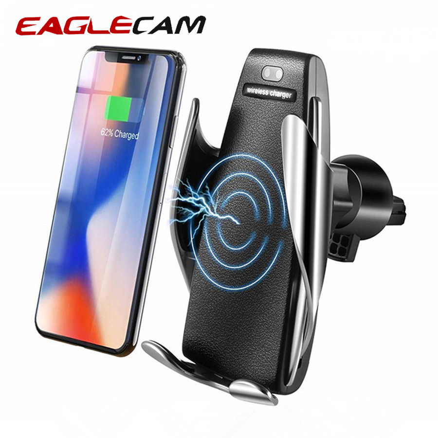 Car Wireless Charger for iPhone X XR 8 Plus Fast Wireless Charging for Samsung Galaxy S9 S8 Plus Phone Holder Mount Cell Stand