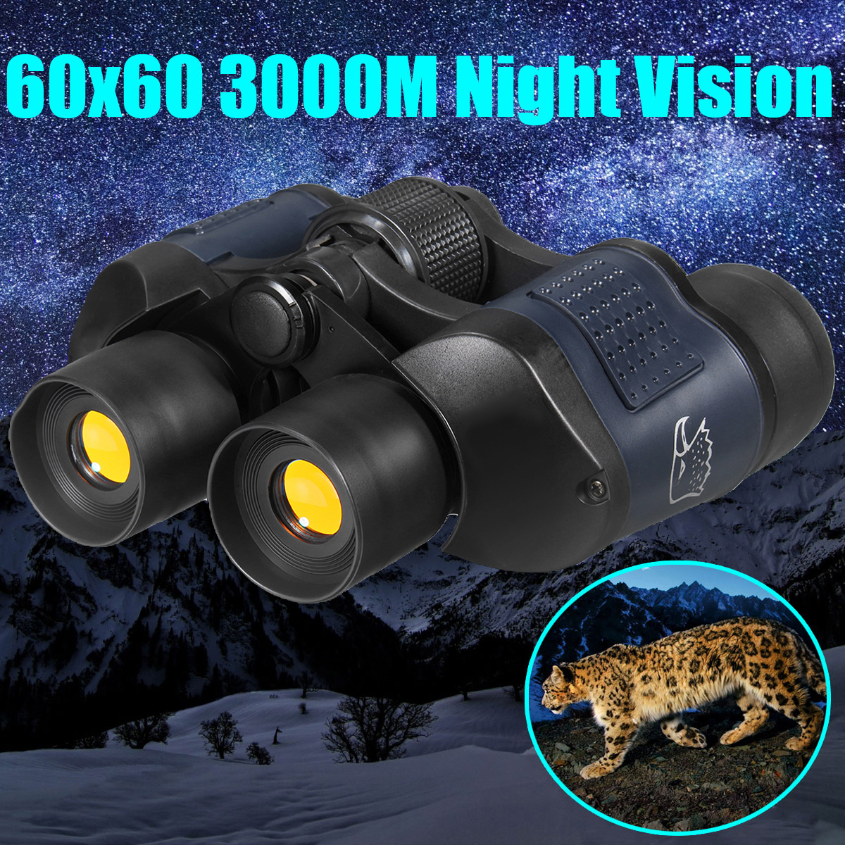 60X60 Optical Telescope Night Vision Binoculars High Clarity 3000M binocular Spotting scope outdoor Hunting sports eyepiece binocular telescope non infrared night vision binoculars camping hunting spotting scope telescopes support drop shipping