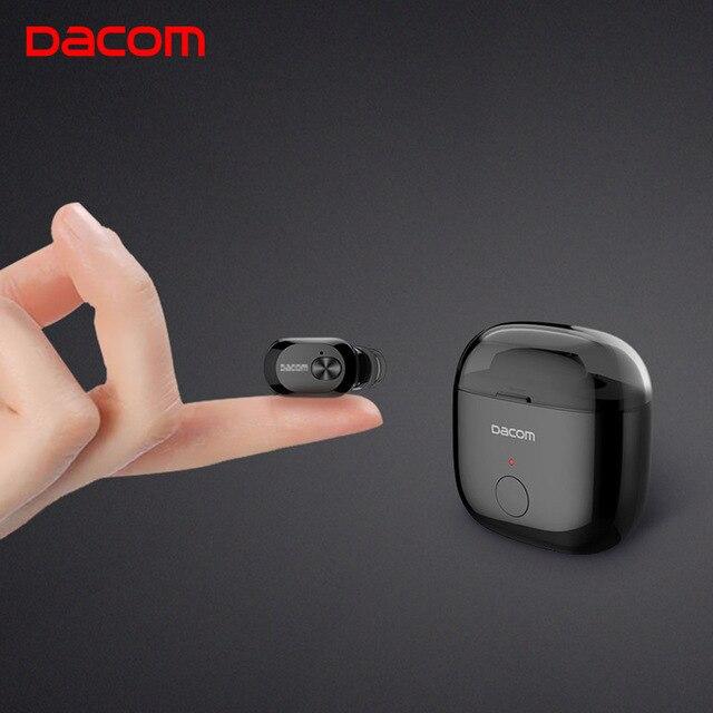 Dacom K6P Mono or K6H TWS True Earbuds Mini Auricular Ear Buds Wireless Bluetooth Earphone Earpiece Headset for iPhone X Samsung