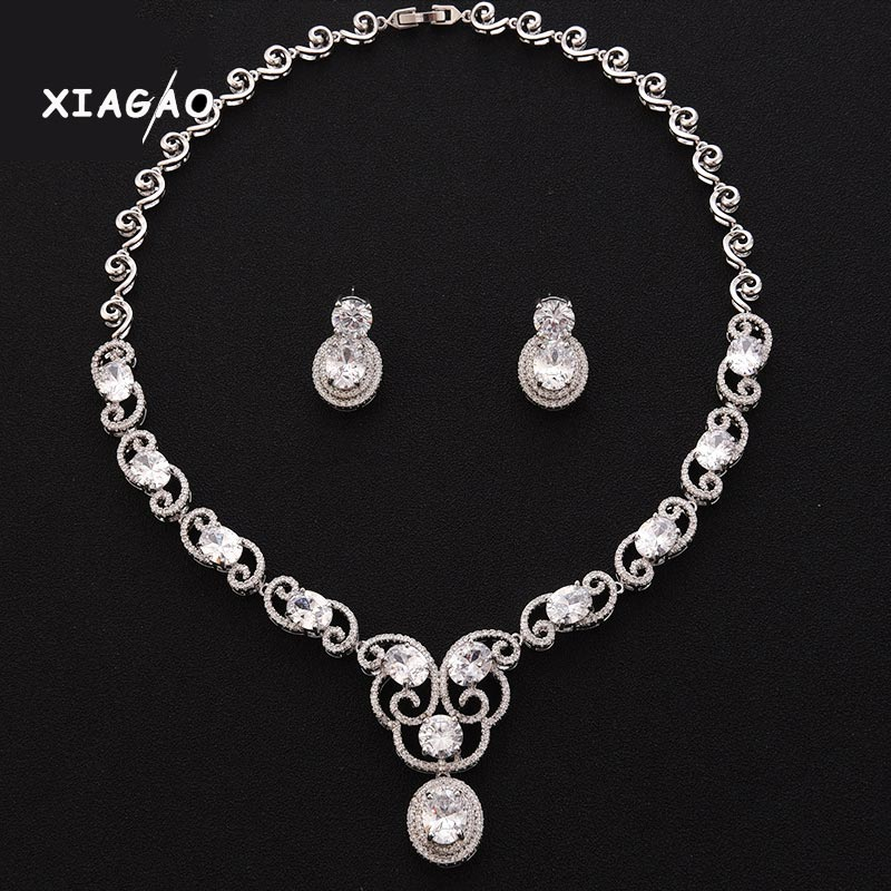 XIAGAO 2016 Ethic Pearl Jewelry Sets Luxury Vintage Earrings & Necklace Wedding Drop Jewelry Parure Bijoux Femme WS021 emmaya luxury freshwater pearl bridal jewelry sets silver color earring necklace set wedding jewelry parure bijoux femme
