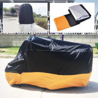 DWCX Motorcycle 1PC XXXL Indoor Outdoor Waterproof Cover UV Protector for Harley Honda Goldwing Kawasaki Yamaha Suzuki Cruisers