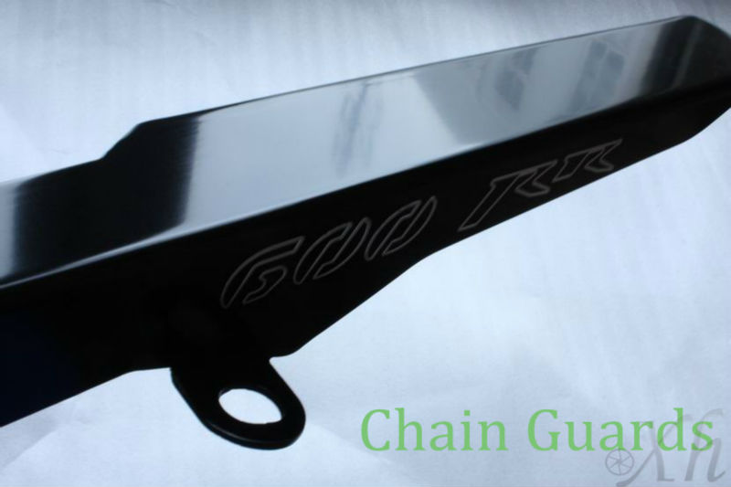 Aftermarket free shipping motorcycle parts  Black Chain Guards Cover for Honda 2003-2012   CBR 600 RR CBR600RR aftermarket free shipping motorcycle parts black chain guards cover for honda 2004 2005 2006 2007 cbr 1000rr