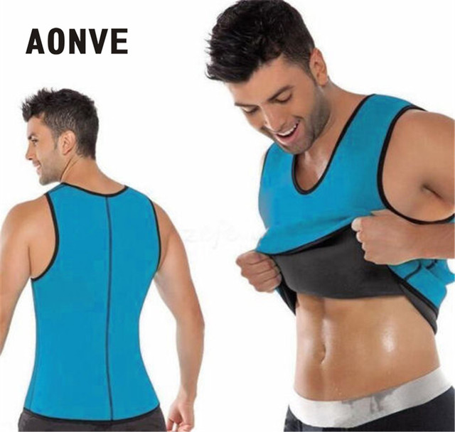 2acbde8c49 Aonve Body Shaper Man Slimming Belt Belly Men Slimming Vest Abdomen Side  Zip Corset Neoprene Sweat