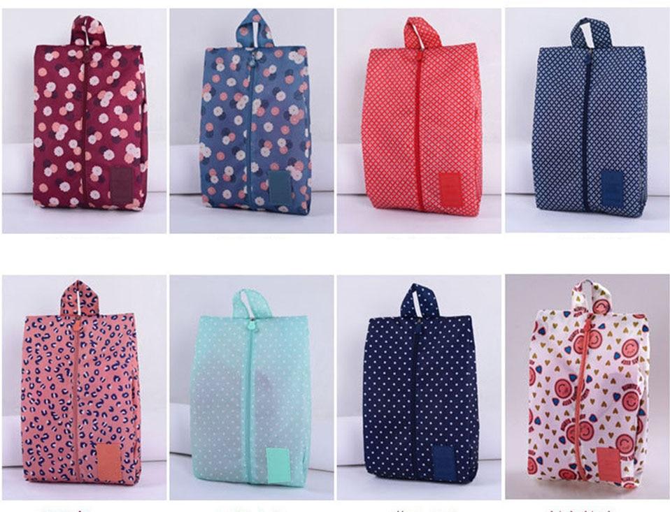 Travel Storage Bag Nylon Waterproof Portable Storage Shoe Bag Multifunctional Travel Bag Storage Case Organizer Home Storage     (2)