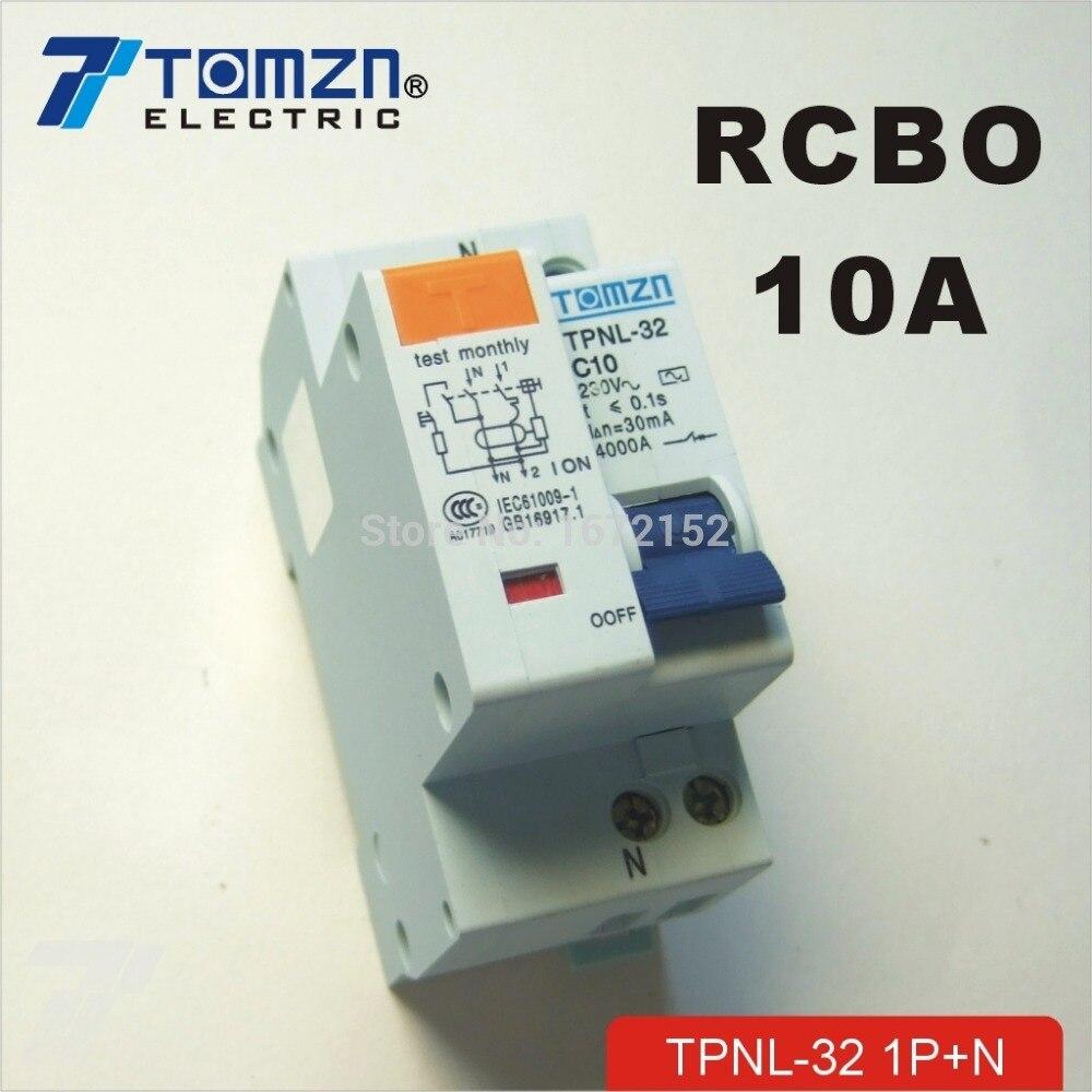 Dpnl 1 P + N 10A 230 В ~ 50 Гц/60 Гц УЗО с более ток утечки и авдт защиты