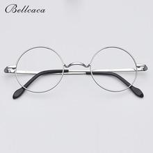 Spectacle Frame Women Men Pure Titanium Round Vintage Eyeglasses Computer Optical Clear Lens Glasses BC351