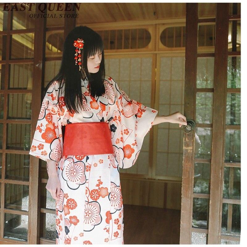 Japanese kimono traditional dress cosplay female yukata women haori Japan geisha costume obi Japan clothing AA3926