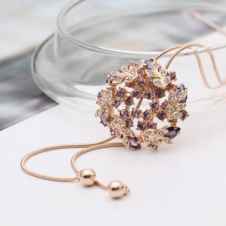 Chaîne de chandail en trois dimensions de couleur exquise long tempérament décontracté collier sauvage pour les femmes, Cabochon de charme