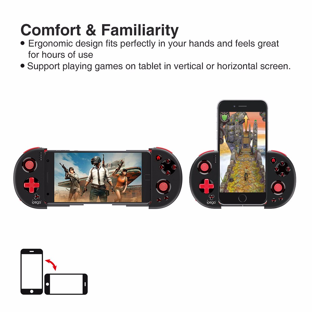 iPEGA PG-9087 Bluetooth Wireless Gamepad For Android IOS Smart Phone Extendable Game Controller Joystick for Tablet Tv Box PC image