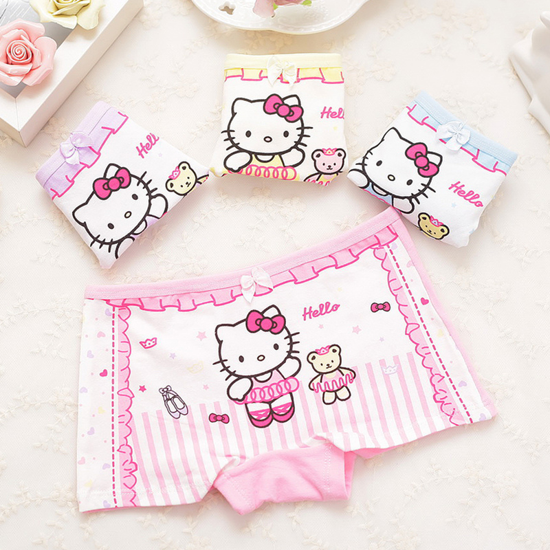 Lovely Cartoon Panties New Fashion Children Boxer Girls' Briefs Female Child Underwear Children Clothing 1 Piece