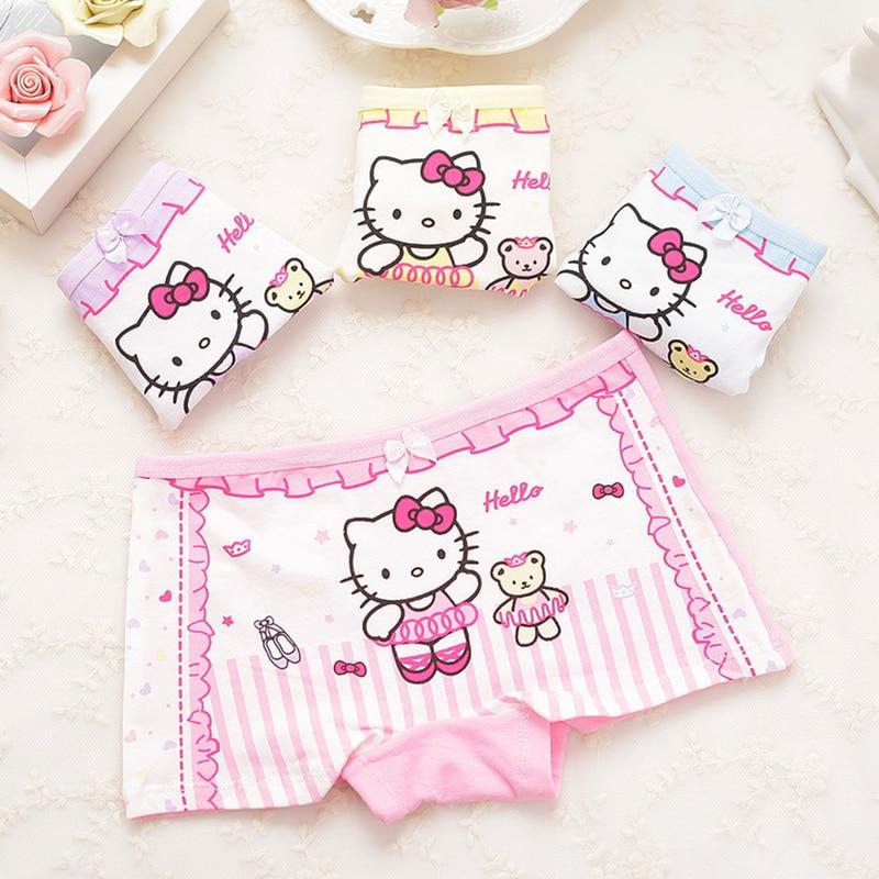 Lovely Cartoon Panties New Fashion Children Boxer Girls' Briefs Female Child Underwear Children Clothing 1 Piece