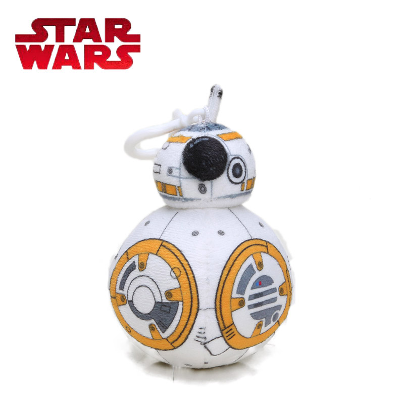 10cm Star Wars Toys The Force Awakens BB8 Plush Keychain Dolls BB-8 Soft Stuffed Dolls Key Ring Plush Pillow