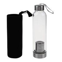 زجاج الرياضة زجاجة ماء مع الشاي تصفية Infuser حقيبة واقية 550 مللي الفاكهة دراجة خارجية زجاجات عالية الجودة
