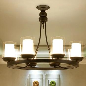Europa Stile di Candela Portalampada Lampadario Luce Restro Decorazione Della Casa di Illuminazione E27 Sala da pranzo Camera Da Letto Hotel Lampada Lustre