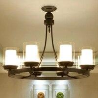 ヨーロッパスタイルキャンドルランプソケットシャンデリアライト Restro 家の装飾照明 E27 ホテル光沢ランプ -