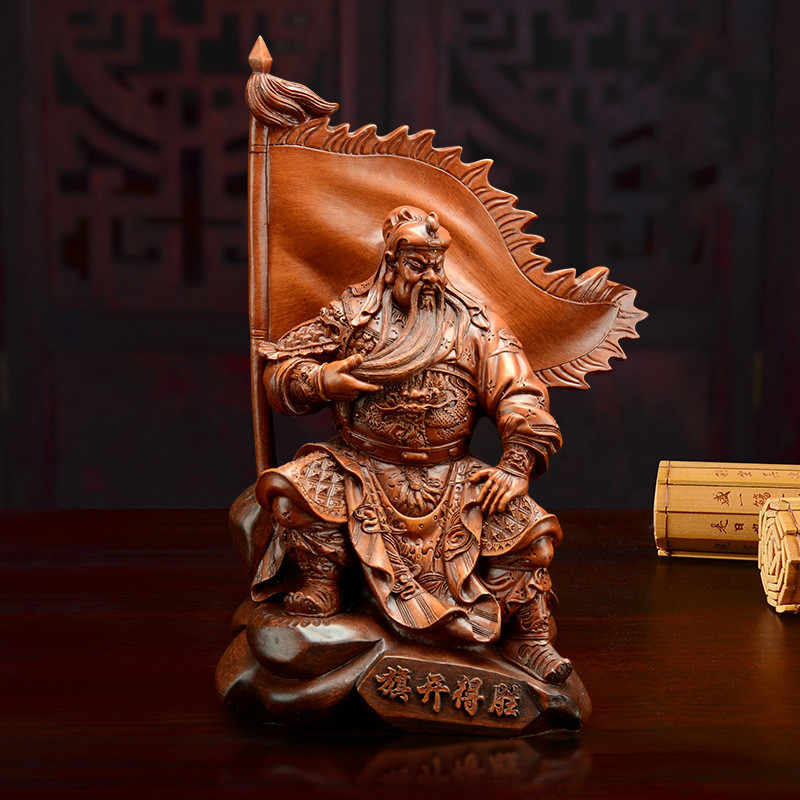 Wu Cai Shen Guan Gong Statue Decoration Guan Yu Home Office Lucky Offerings Statues  Home Decoration Accessories