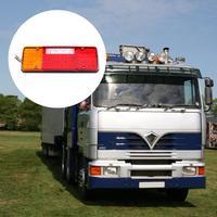 VODOOL 2pcs Trailer Truck LED Tail Light Taillight Reversing Running Brake Lamp Car Rear Lights Car