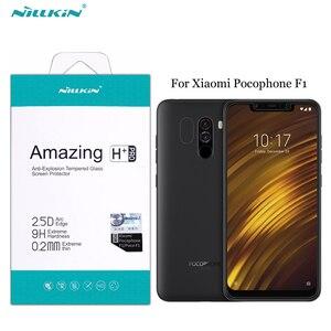 Image 1 - واقي للشاشة ل Xiaomi Pocophone F1 الزجاج المقسى Nillkin مذهلة H + برو مكافحة انفجار 2.5D الزجاج ل Xiaomi Pocophone f1