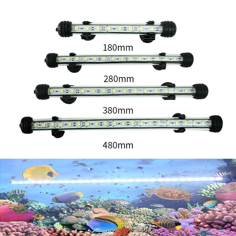 Aquarium Fish Tank Light 9/15/21/27 LED White Waterproof LED Bar Light Submersible Lamp Decor Acrylic Clip EU/AU/US/UK Plug
