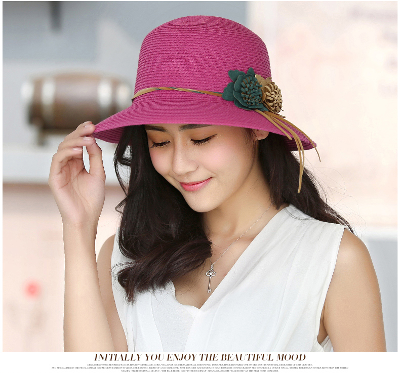 1c621a855 Female summer beach hat sun hat Travel cap ladies wild large brimmed hat-in  Sun Hats from Women's Clothing & Accessories