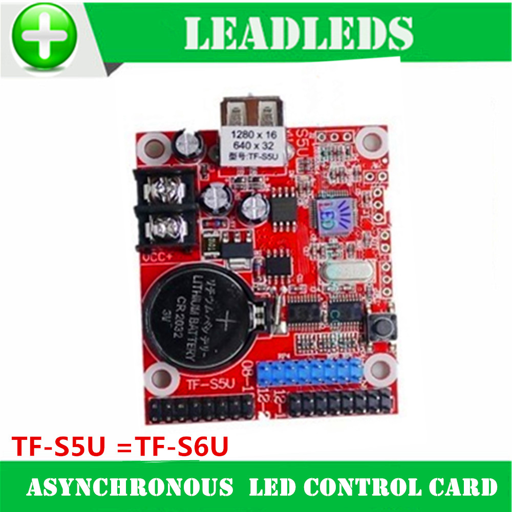 TF-S5U = TF-S6U RED Asynchronous  Led Control Card Control Card For Led Display Screen