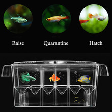 Compare Prices Big Size 4 Rooms Fish Breeding Boxes Double Guppies Hatching Incubator Isolation Acrylic Mini Aquarium Tanks Durable PT1271