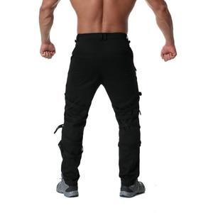 Image 3 - Pantalones Cargo con cremallera de decoración de Metal de alta calidad, Jogger de Hip Hop, pantalón de chándal urbano, ABZ183