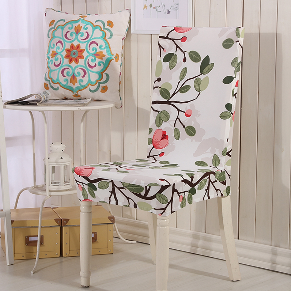 Chair sashes styles - Agmy Flowers Removable Machine Washable Chair Covers For Living Room 100 Polyester Pastoral Style Wedding Chair Covers For Home
